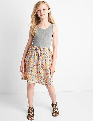 GAP Girls Multi Colour Print Skirt Tank Dress