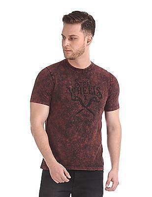 Cherokee Crew Neck Graphic T-Shirt