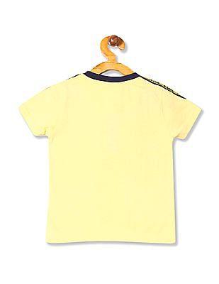 Cherokee Boys Printed Henley T-Shirt