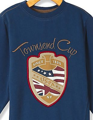 U.S. Polo Assn. Kids Boys Standard Fit Embroidered Sweatshirt