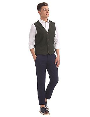 U.S. Polo Assn. Denim Co. Regular Fit Contrast Panelled Waistcoat