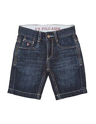 U.S. Polo Assn. Kids Boys Washed Denim Shorts