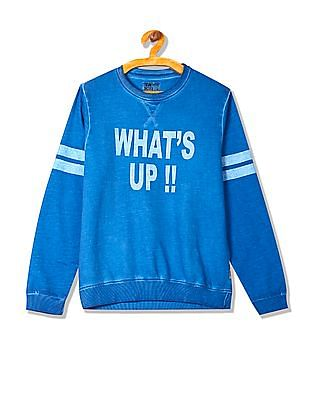 FM Boys Boys Printed Crew Neck Sweatshirt