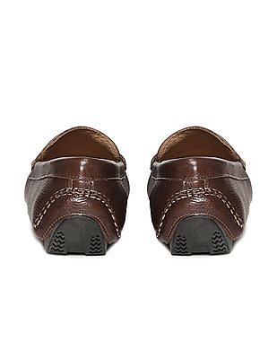 Johnston & Murphy Pebble Grain Leather Penny Loafers