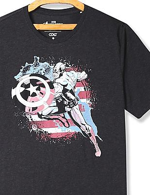 Colt Grey Crew Neck Captain America Graphic T-Shirt