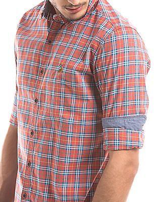 U.S. Polo Assn. Denim Co. Slim Fit Plaid Shirt