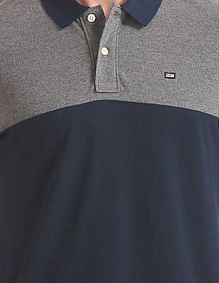 Arrow Sports Short Sleeve Colour Blocked Polo Shirt