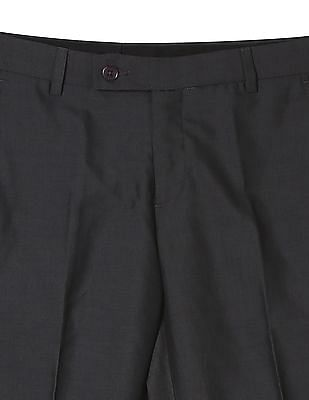 Arrow Newyork Slim Fit Solid Trousers