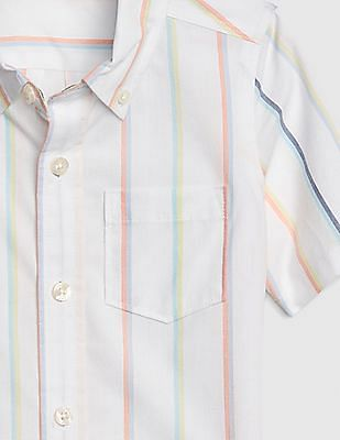 GAP Toddler Boy Stripe Short Sleeve Shirt