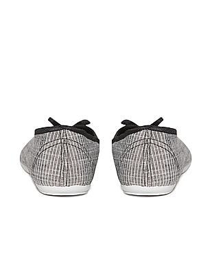 SUGR Striped Fabric Ballerinas