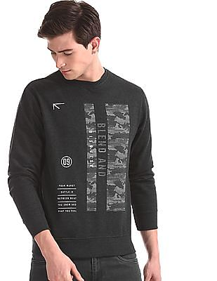 Newport Grey Crew Neck Graphic Sweatshirt