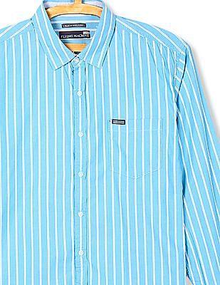 Flying Machine Long Sleeve Striped Shirt