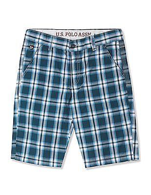 U.S. Polo Assn. Kids Boys Check Cotton Shorts