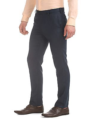 Arrow Jacquard Tapered Fit Trousers