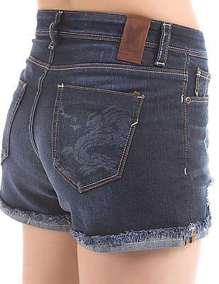 EdHardy Women Distressed Denim Shorts