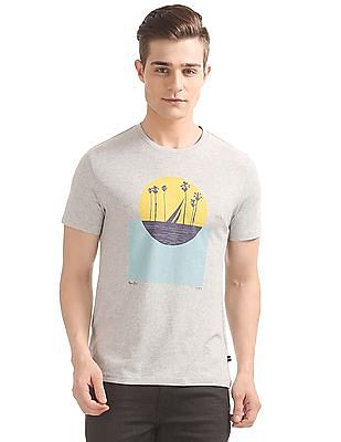 Nautica Short Sleeve Color Block Sun Crew T-Shirt