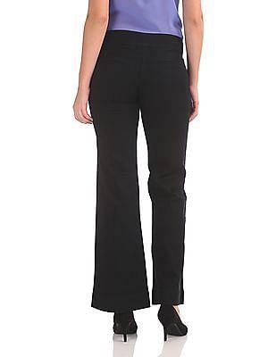 Arrow Woman Solid Wide Leg Trousers