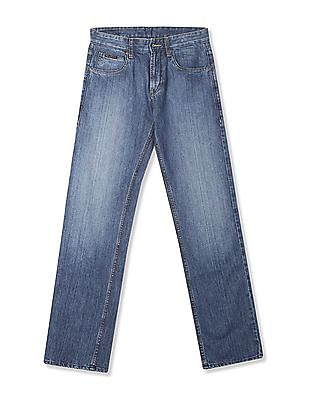 Flying Machine Bruce Regular Straight Fit Stone Wash Jeans