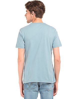 Flying Machine Brand Print Regular Fit T-Shirt