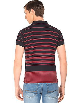 Ruggers Striped Short Sleeve Polo Shirt