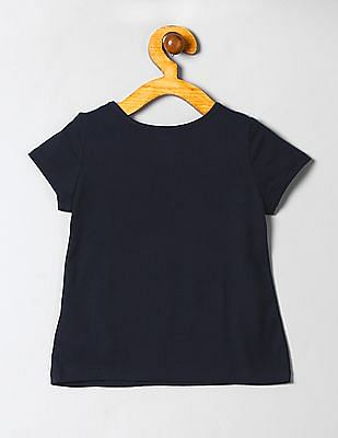 GAP Baby Blue Printed T-Shirt