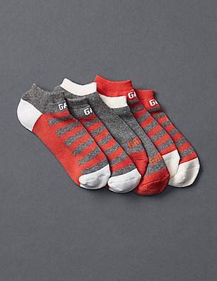GAP Women Assorted Logo Athletic Ankle Socks - Pack Of 3