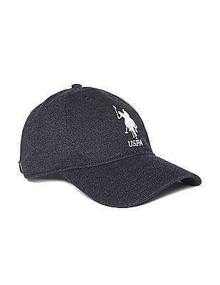 U.S. Polo Assn. Blue Numeric Applique Cotton Cap