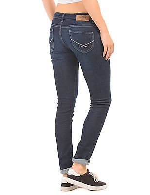 U.S. Polo Assn. Women Low Rise Super Skinny Fit Jeans