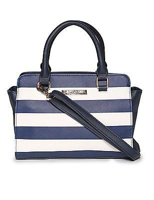 U.S. Polo Assn. Women Detachable Strap Stripe Satchel Bag