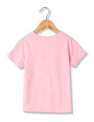 Cherokee Girls Printed Short Sleeve T-Shirt