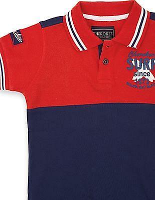 Cherokee Boys Colour Block Polo Shirt