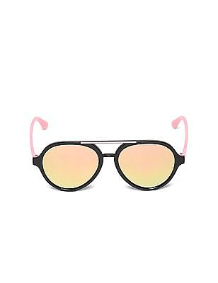 Unlimited Girls Mirrored Lens Colour Block Sunglasses
