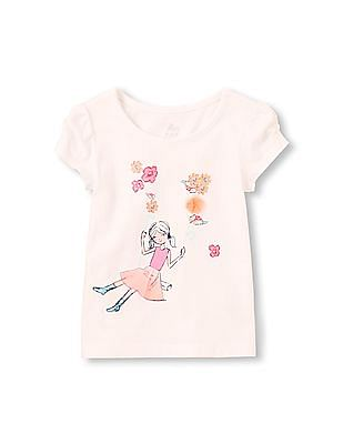 The Children's Place Toddler Girl Ruched Short Sleeve Girl Top