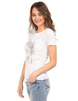 Aeropostale Foil Print Regular Fit T-Shirt