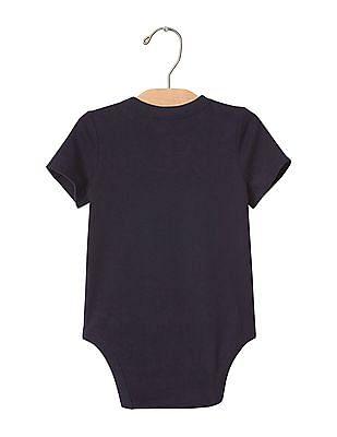 GAP Baby Blue Solid Bodysuit