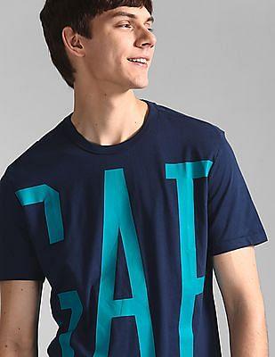 GAP Blue Oversize Logo Crewneck Tee