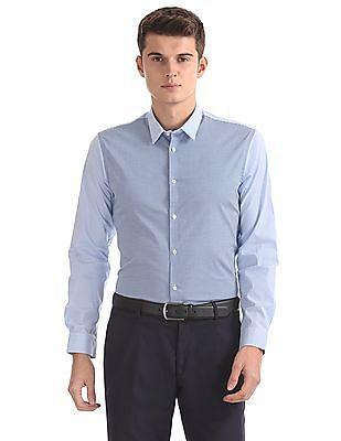 Arrow Newyork Super Slim Fit Combination Print Shirt
