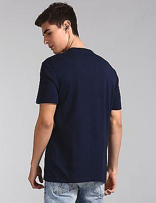 GAP Blue Crew Neck Logo T-Shirt