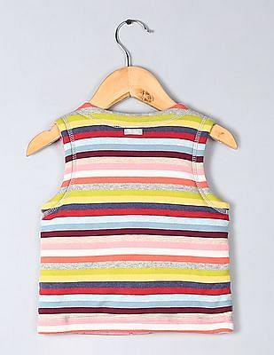 GAP Babys Reversible Striped Vest Jacket