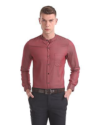 Excalibur Mandarin Collar Two Tone Shirt