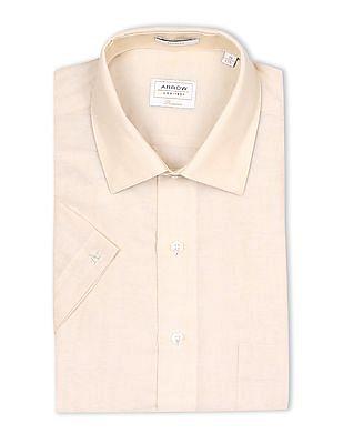 Arrow Regular Fit Cotton Linen Shirt