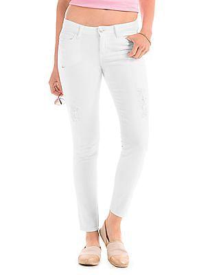 Elle Super Skinny Distressed Jeans