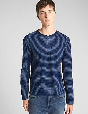 GAP Long Sleeve Indigo Henley