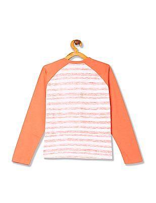 Cherokee Boys Stripe Henley T-Shirt