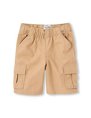 The Children's Place Boys Pull-On Woven Cargo Shorts