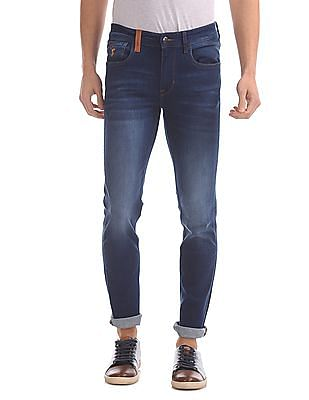 U.S. Polo Assn. Denim Co. Skinny Fit Stone Wash Jeans