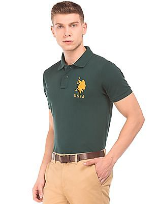 U.S. Polo Assn. Slim Fit Embroidered Applique Polo Shirt