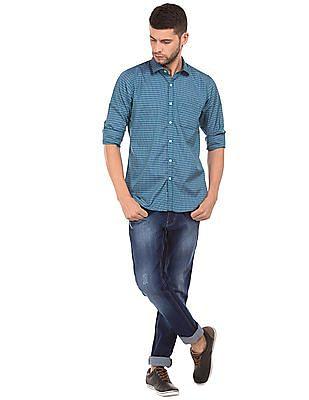 Excalibur Cutaway Collar Check Shirt