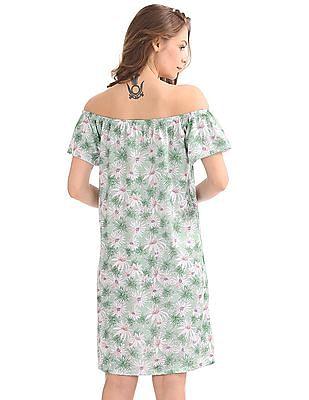 Cherokee Off Shoulder Shift Dress