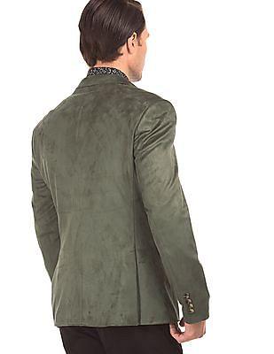 Arrow Suedette Slim Fit Blazer